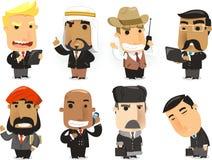 Fumetto degli uomini di finanza Fotografia Stock