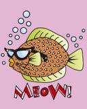 Fumetto dei pesci del colpo Immagine Stock