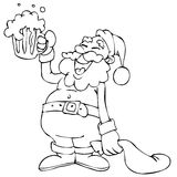 Fumetto del Babbo Natale Fotografia Stock