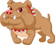 Fumetto del bulldog illustrazione di stock