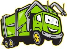 Fumetto del camion dei rifiuti dell'immondizia royalty illustrazione gratis