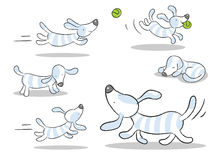Fumetto del cane Fotografie Stock Libere da Diritti