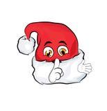 Fumetto del cappello di Natale Fotografia Stock