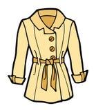 Fumetto del cappotto della donna illustrazione vettoriale