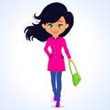Verde della ragazza di modo Fotografia Stock Libera da Diritti