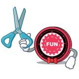Fumetto del carattere della moneta di Barber FunFair royalty illustrazione gratis