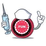 Fumetto del carattere della moneta di FunFair dell'infermiere royalty illustrazione gratis