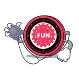 Fumetto del carattere della moneta del dottore FunFair royalty illustrazione gratis