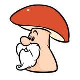 Fumetto del carattere del fungo dell'uomo anziano fotografia stock libera da diritti