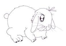 Fumetto del coniglio Fotografia Stock