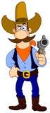 Fumetto del cowboy illustrazione di stock