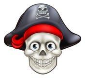 Fumetto del cranio del pirata del fumetto illustrazione vettoriale