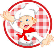 Fumetto del cuoco unico del ragazzo Immagine Stock Libera da Diritti