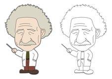 Fumetto del Einstein royalty illustrazione gratis