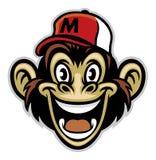 Fumetto del fronte allegro della scimmia Fotografia Stock