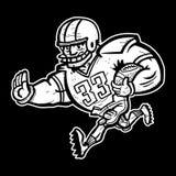 Fumetto del giocatore di football americano Fotografia Stock Libera da Diritti
