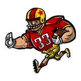 Fumetto del giocatore di football americano Immagini Stock