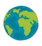 Fumetto del globo del mondo Immagini Stock