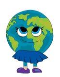 Fumetto del globo del mondo Fotografie Stock Libere da Diritti