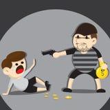 Fumetto del ladro Fotografie Stock