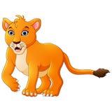 Fumetto del leone illustrazione di stock