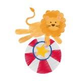 Fumetto del leone del circo Fotografia Stock