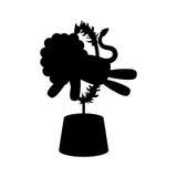 Fumetto del leone del circo Fotografia Stock Libera da Diritti