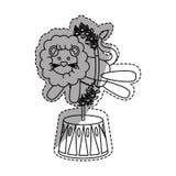 Fumetto del leone del circo Immagini Stock Libere da Diritti