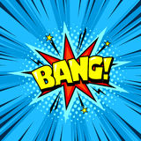 Fumetto del libro di fumetti del supereroe, effetto sonoro di esplosione Immagini Stock Libere da Diritti