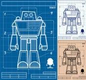 Fumetto del modello del robot Immagini Stock Libere da Diritti