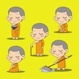 Fumetto del monaco Immagine Stock