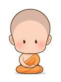 Fumetto del monaco buddista Fotografie Stock