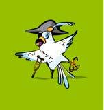 Fumetto del pappagallo del pirata Immagini Stock Libere da Diritti