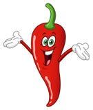 Fumetto del pepe di peperoncino rosso Immagini Stock Libere da Diritti