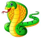 Fumetto del serpente della cobra illustrazione di stock