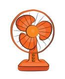 Fumetto del ventilatore da tavolo Fotografia Stock Libera da Diritti