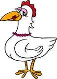 Fumetto dell'animale da allevamento dell'uccello della gallina Fotografia Stock