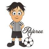 Fumetto dell'arbitro di calcio Fotografie Stock Libere da Diritti