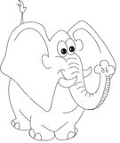 Fumetto dell'elefante illustrazione di stock
