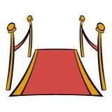 Fumetto dell'icona del tappeto rosso Immagine Stock