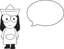 Fumetto dell'infermiera royalty illustrazione gratis