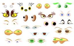Fumetto dell'occhio Fotografia Stock