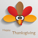 Fumetto dell'uccello del tacchino Insegna felice di celebrazione di ringraziamento T Fotografia Stock Libera da Diritti