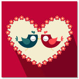 Fumetto dell'uccello di amore Immagine Stock