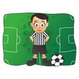 Fumetto dell'uomo di calcio Fotografia Stock Libera da Diritti