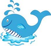 Fumetto della balena. Immagine isolata. Immagini Stock