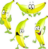 Fumetto della banana Fotografia Stock