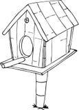 Fumetto della Camera dell'uccello di scarabocchio Fotografia Stock Libera da Diritti
