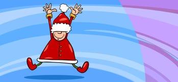 Fumetto della cartolina d'auguri del Babbo Natale Immagini Stock