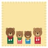 Fumetto della famiglia dell'orso immagini stock